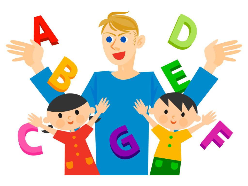 英語教師と子ども