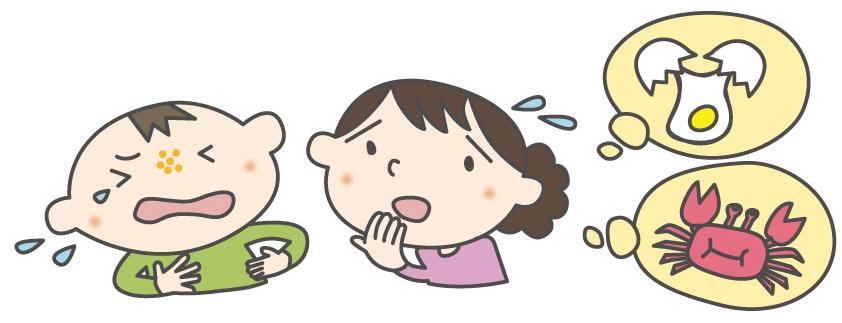 子どものアレルギー症状を心配する母
