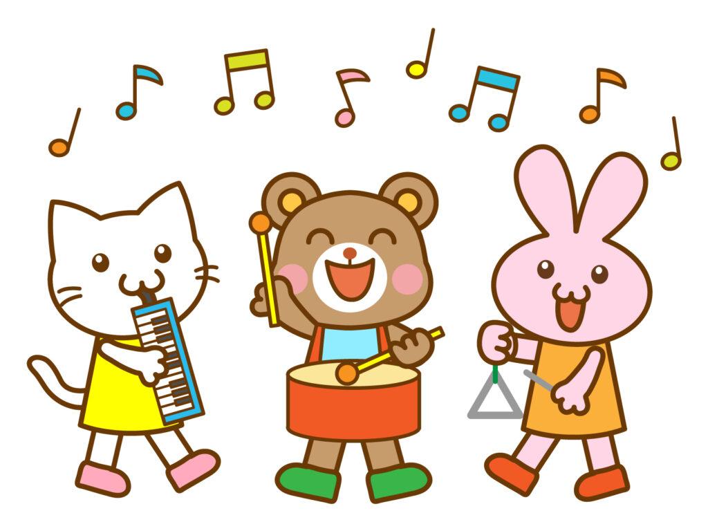 楽器を演奏する動物たち